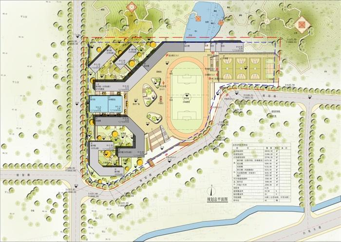 某现代风格小学建筑规划方案设计(含ppt,cad平面图)