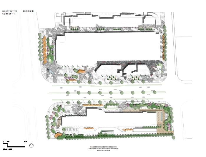 杭州某商业及酒店项目景观概念汇报方案高清文本[原创]图片