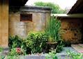 中庭景观,花钵,照壁墙