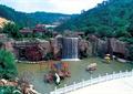 假山瀑布,水车,游乐设施