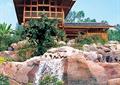 山间别墅,假山瀑布,假山石头
