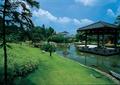 草坪,凉亭,四角亭,水池
