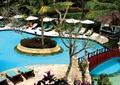 休閑度假區景觀,泳池,花壇景觀,園橋