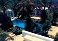 休閑度假區景觀,戶外泳池,樹池,涼亭