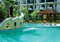 中庭水池景观,四角亭,凉亭,景墙