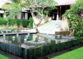 小区方形喷泉水池,方形树池