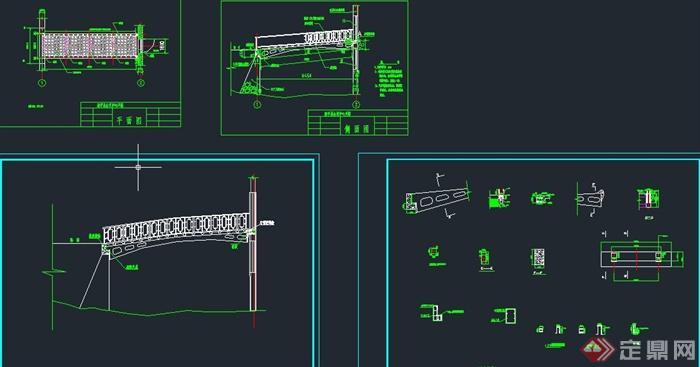 钢结构连桥设计cad图[原创]