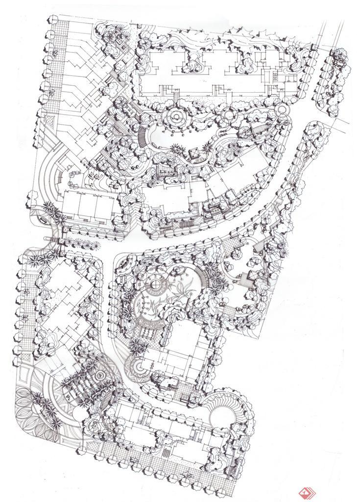 动物园地图线稿