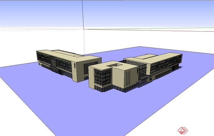 某产业园工业厂房建筑设计模型[原创]