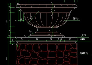 花钵,树池,花池设计CAD详图