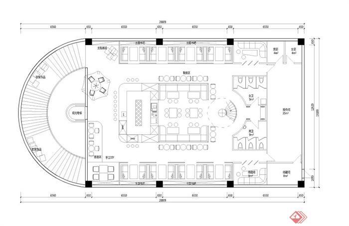 两层咖啡厅平面布置jpg方案[原创]