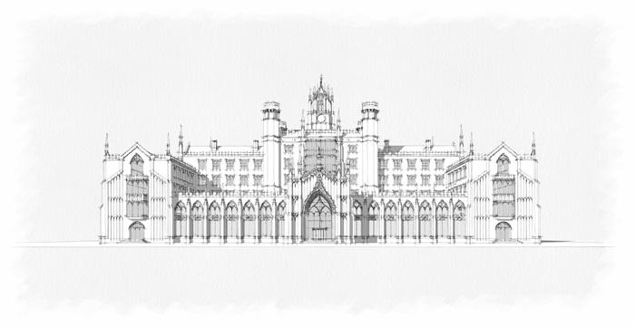 哥特式酒店建筑设计su模型
