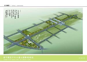 常宁新区子午大道公园景观规划设计