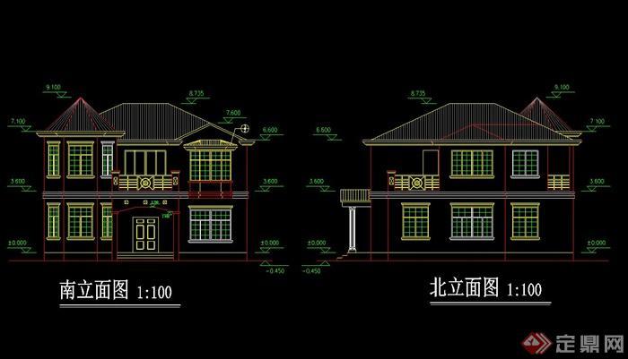 欧式农村别墅自建房效果图 CAD施工图