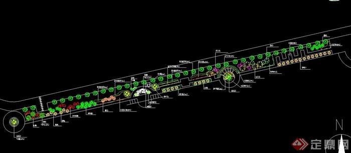 道路景观绿化设计CAD图