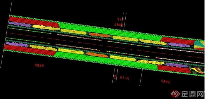 某道路绿化景观设计CAD图