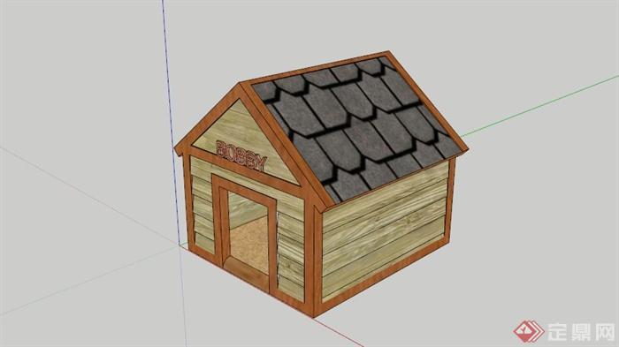 某现代小木屋狗窝su模型(1)