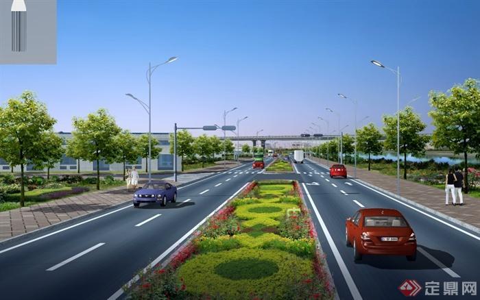 某城市公路绿化设计psd效果图[原创]