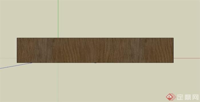 某古典中式深色木材展示柜su模型
