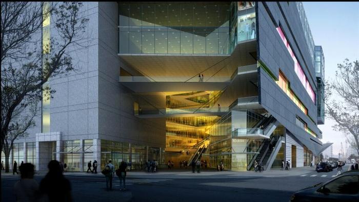 大型商场入口3d模型+ps效果图[原创]