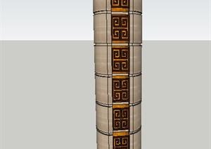 室内装饰圆柱设计SU(草图大师)模型