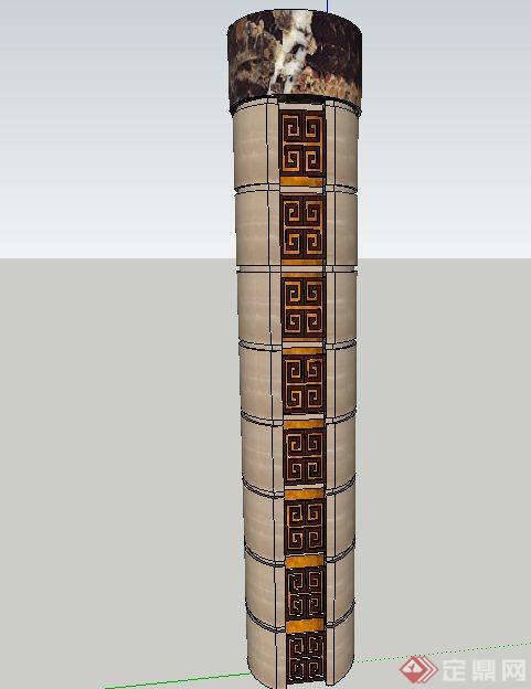 室内装饰圆柱设计su模型