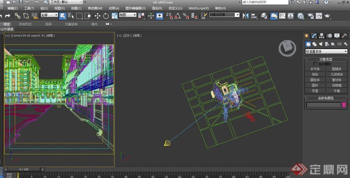 欧式住宅小区建筑设计3d模型 效果图