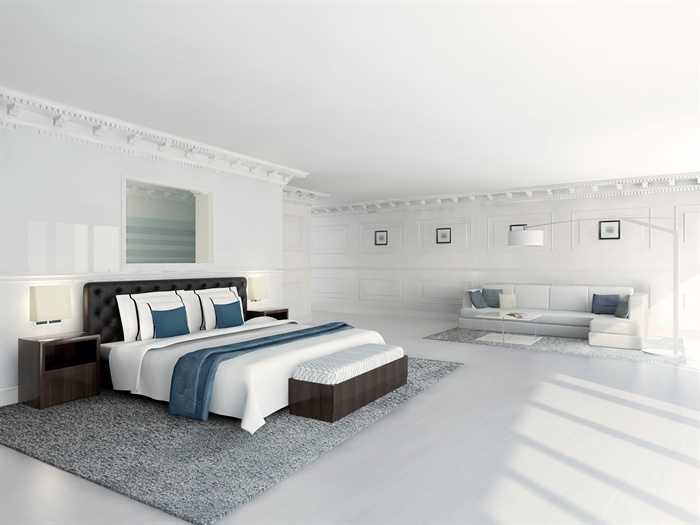 现代卧室室内布置场景设计3dmax模型[原创]