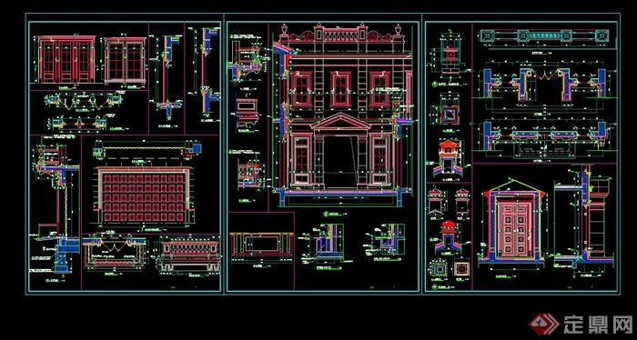 某三层欧式别墅建筑设计cad施工图,该图纸绘画详细,材料标注明确,可直接用于施工使用,具有很好的参考价值,欢迎借鉴及下载使用。