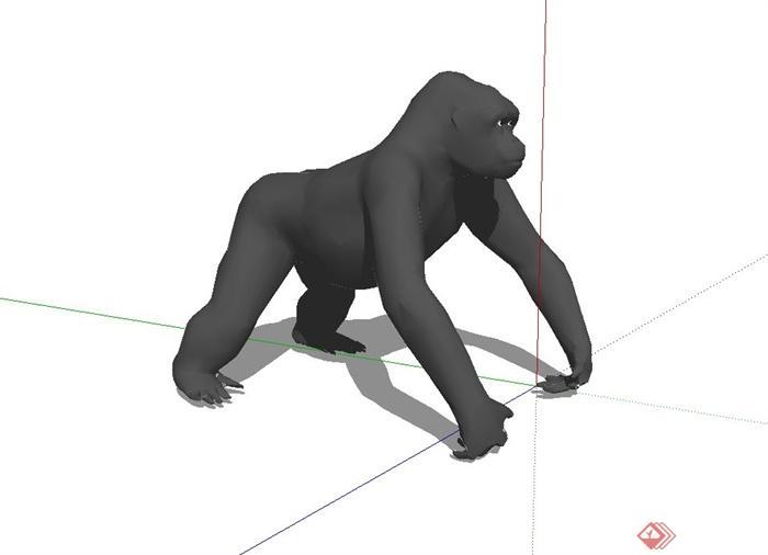 大猩猩动物设计su模型(1)
