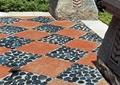 地面拼花,卵石鋪裝,磚塊鋪裝