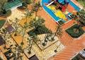 小区休闲区,游乐场地,游乐设施,种植池,地面铺装
