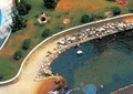 小区中央景观,景石石头,水池,园路,自然石