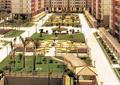 小区中庭景观,廊架,草坪,园路,长廊架