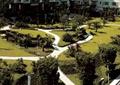 小区中庭景观,水池,园路,路灯,草坪