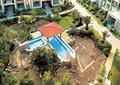 小区中庭景观,凉亭,水池,自然石,草坪,园路