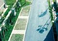 道路,停车位,嵌草砖