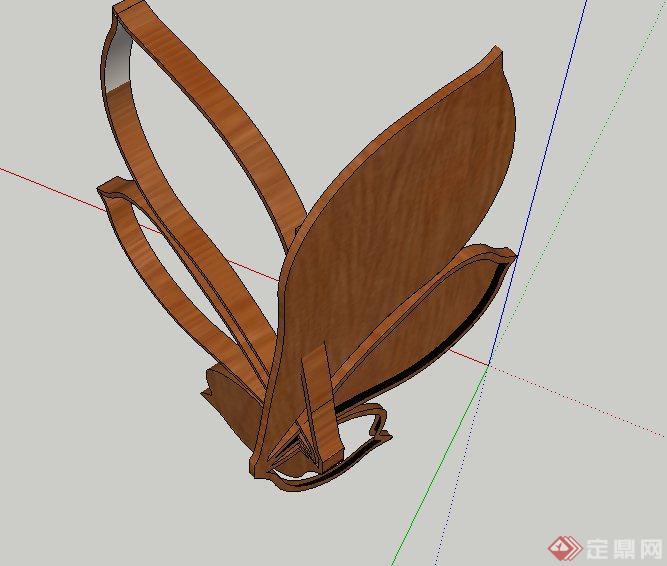 木质花朵雕塑设计su模型