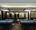 台球室,台球桌,吊灯