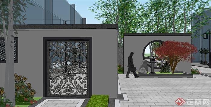 古典中式住宅小区机械规划设计su报告[总结]景观设计创新v机械模型原创图片