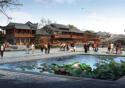 某古典中式民族风情村落景观设计3d模型