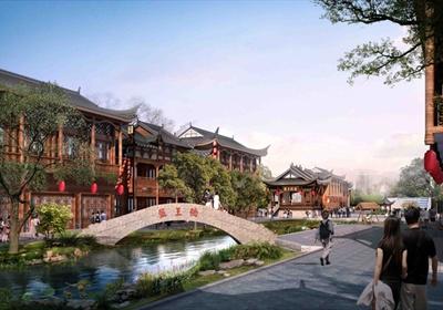 瑶族风情村落景观设计3d模型