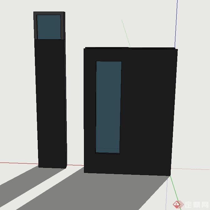 景观灯柱组合设计su模型[原创]