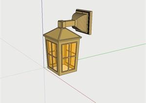 某欧式壁灯设计SU(草图大师)模型