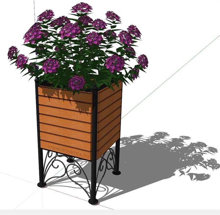 某广场欧式花箱设计su模型(1)