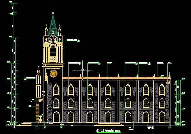 基督教教堂建筑结构图施工图设计[原创]