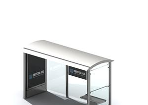 关系的公交车站候车廊架设计3DMAX模型