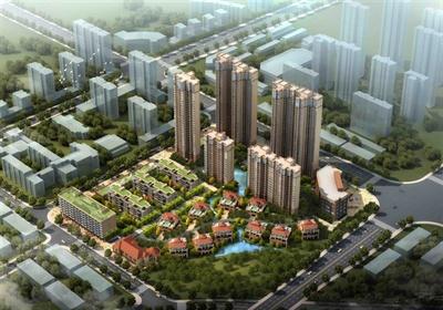 洋房别墅高档小区综合建筑设计3DMAX模型
