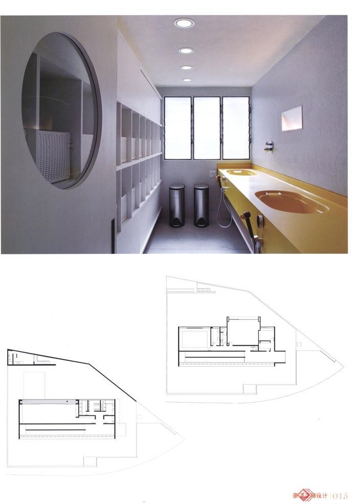 空间亲子室内设计浴室图-案例洗漱台储物柜-设viv空间执行实景手册图片
