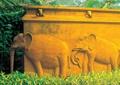 浮雕墙,大象浮雕